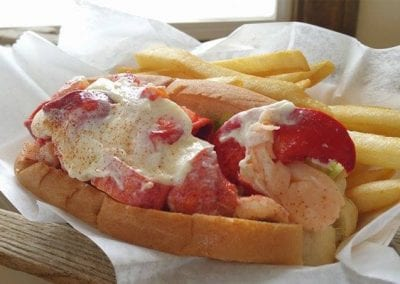 Lobster Roll With French Fries