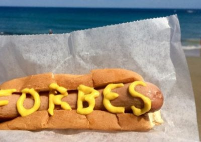 Hot Dog With Forbes Mustard