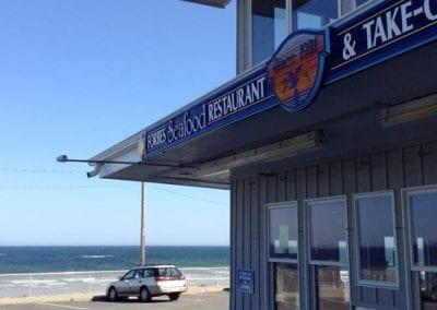 Restaurant And Ocean